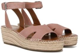 Franco sarto pellia size 10 m EU 40 women suede espadrille wedge sandals - $41.59