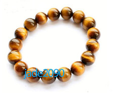 Free Shipping - perfect Natural Yellow tiger eye STONE Prayer Beads charm bracel - $19.99