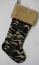 CHRISTMAS STOCKING Camouflage CAMO  Hunting Military  *NEW * Holiday - $11.64