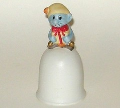 Hand Painted Ceramic Porcelain Christmas Blue Smurf Bell - $7.00