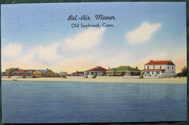 Tichnor, full bleed, Linen Postcard, Bel-Air Manor, Old Sayb - $7.00