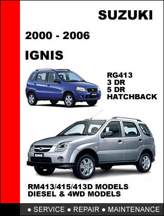 suzuki ignis 2000 2006 rg413 rm413 rm413 d and 50 similar items rh bonanza com suzuki ignis owners manual suzuki ignis owners manual pdf