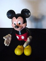 """Vintage Rubber Mickey Mouse Figurine Applause 5"""" - $8.89"""