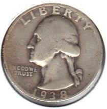 Nice 1938 S Washington Quarter - $10.00
