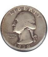 Nice 1938 S Washington Quarter - $191,80 MXN