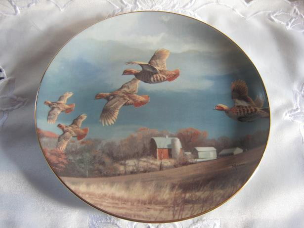 Game Bird Collectible Plate Danbury Mint