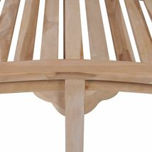 vidaXL Solid Teak Wood Bench Banana Shape 2-Seater Outdoor Garden Chair Seat image 4