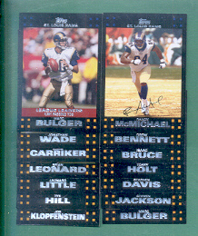 2007 Topps St. Louis Rams Football Team Set