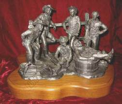 Michael Ricker Saturday Night Bath Cowboy Signed Pewter - $285.00