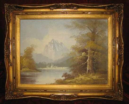 Lake Forest Fall Scenery Oil Painting Frame Anco Bilt
