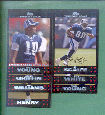 2007 Topps Tennessee Titans Football Team Set
