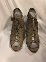 Vince Camuto Estie Women US 8.5 Taupe Sandals Cut Out Shoes Womens Heels... - $48.59