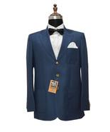 Men Blue Three Button Blazer Designer Dinner Party Wear Wedding Blazer - $189.99
