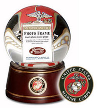 San Francisco Music Box - American Hero, U.S. Marines Waterglobe, New  - $40.00