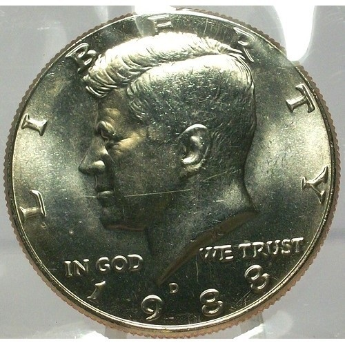 Primary image for 1988-D Kennedy Half Dollar BU In the Cello #0679