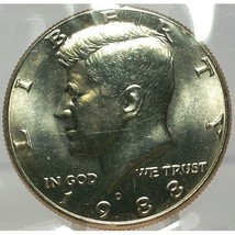 1988-D Kennedy Half Dollar BU In the Cello #0679 - $7.89