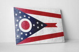 Vintage Ohio State Flag Gallery Wrapped Canvas Wall Art - $44.50+