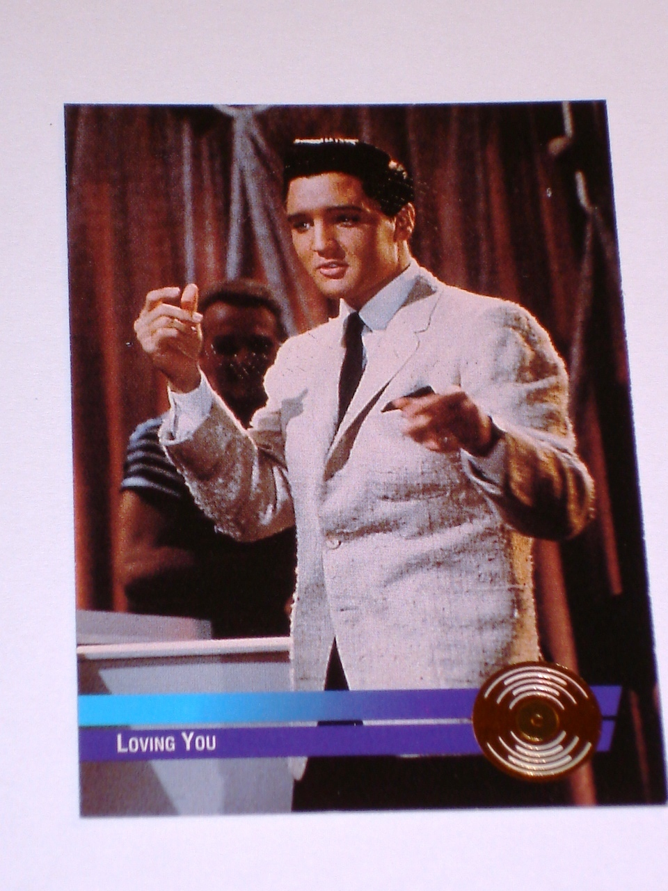 ELVIS LOVING YOU GOLD COLLECTIBLE CARD