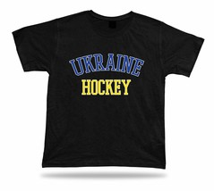 UKRAINE HOCKEY t-shirt tee international world ice olympic sport stadium... - $7.57