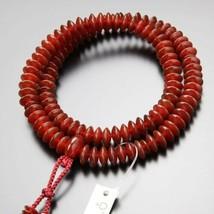 Tendai Buddhist Rosary Mala Juzu Prayer beads Japan Kyoto Agate Handcraft - $970.60
