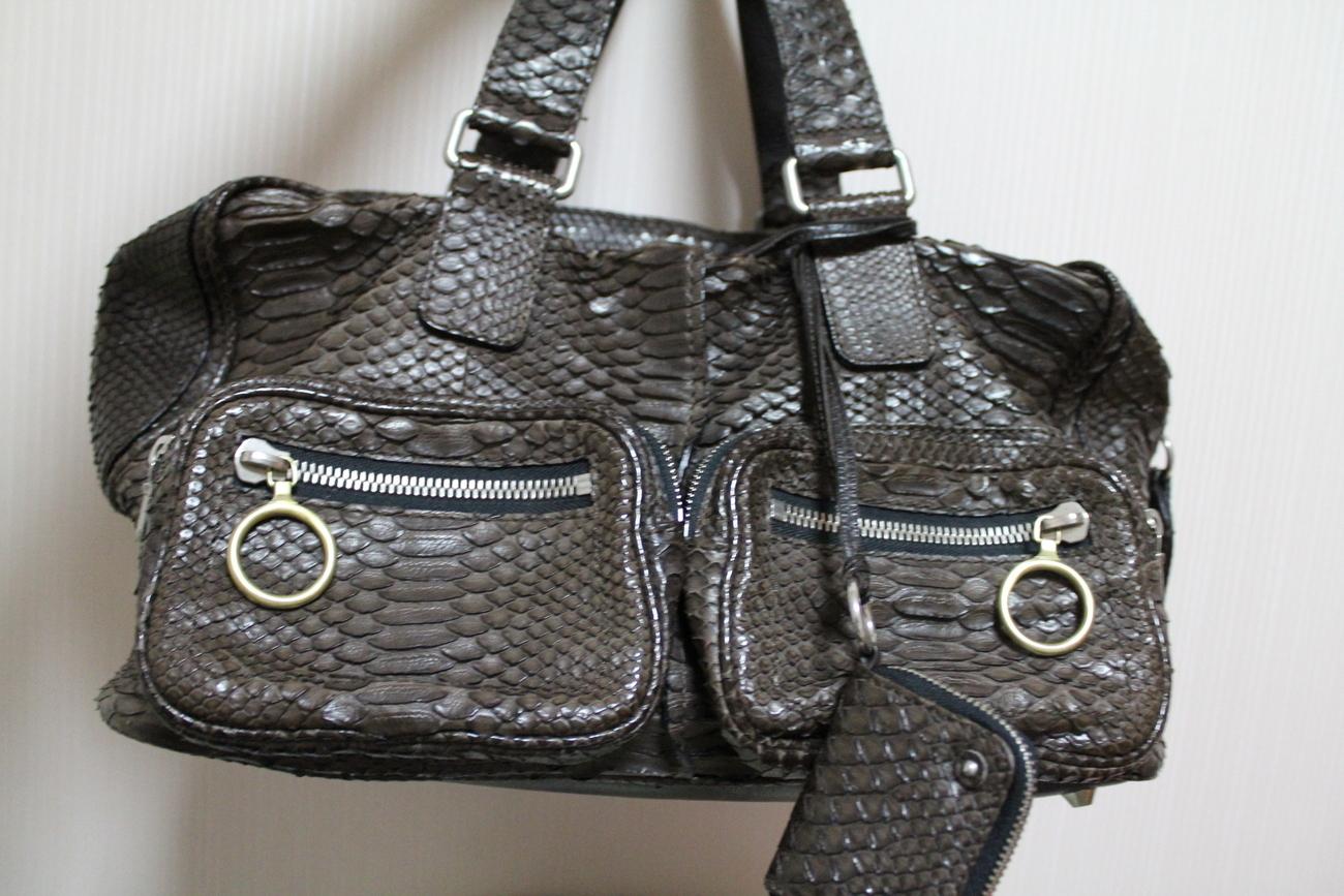 chloe python betty bag
