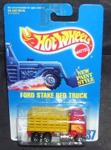HOT WHEELS FORD STAKE BED TRUCK 1991 #237 NEW - $5.99