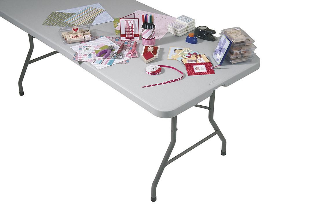 6 Foot FOLDING Resin Indoor Outdoor Multi Purpose Table W