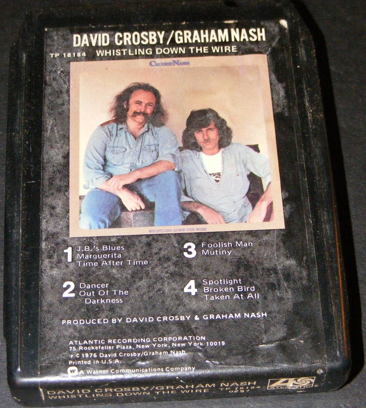 David Crosby & Graham Nash Whistling Down the Wire 8 Track