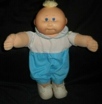 Vintage Cabbage Patch Kids Baby Doll Boy Blonde Patch Stuffed Animal Plush Toy C - $23.38