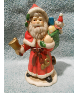 """5"""" CERAMIC SANTA CLAUS WITH BELL AND TOY BAG HAND PAINTED - $19.95"""