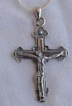 Catholic silver cross - $30.00