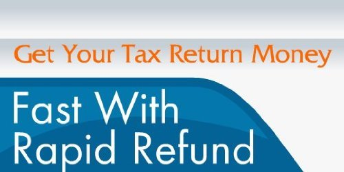 3x6 Vinyl Banner - Get Your Tax Return Money Fast With Rapid Refund