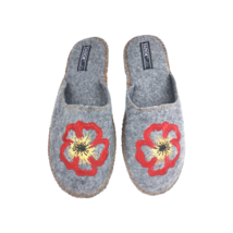 Tapok Womens Felt Slippers, Model Poppy Flower, Made in Ukraine - $11.00