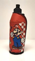Nintendo Super Mario Bros Padded Bottle Holder 500ml Hook and Latch Mari... - $24.19