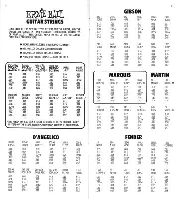 ernie ball string gauge guide 1977 collectibles. Black Bedroom Furniture Sets. Home Design Ideas