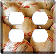 MLB OLD BASEBALL BALLS 4H ELECTRICAL OUTLET COVER PLATE - $9.99