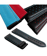 22mm Replacment Watch Band Strap Perforated Leather Rally Racing - $39.99