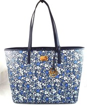 AUTHENTIC NEW NWT MICHAEL KORS $328 EMRY NAVY BLUE WHITE FLORAL LG TOP Z... - $2.067,60 MXN