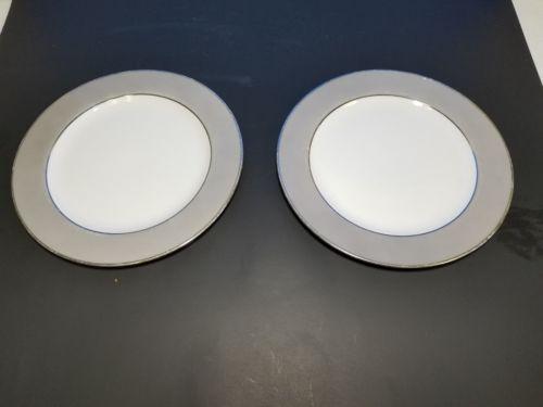 2 Sango Platina Luncheon Plates Japan