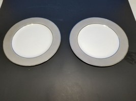 2 Sango Platina Luncheon Plates Japan - $7.75
