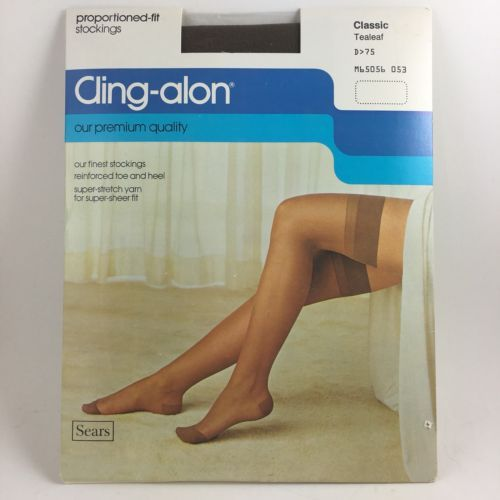 b8bf72b20 Vintage Stockings Sears Cling-alon Brown and 50 similar items. 12