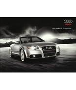 2008 Audi A4 CABRIOLET sales brochure catalog US 08 2.0T 3.2 - $8.00
