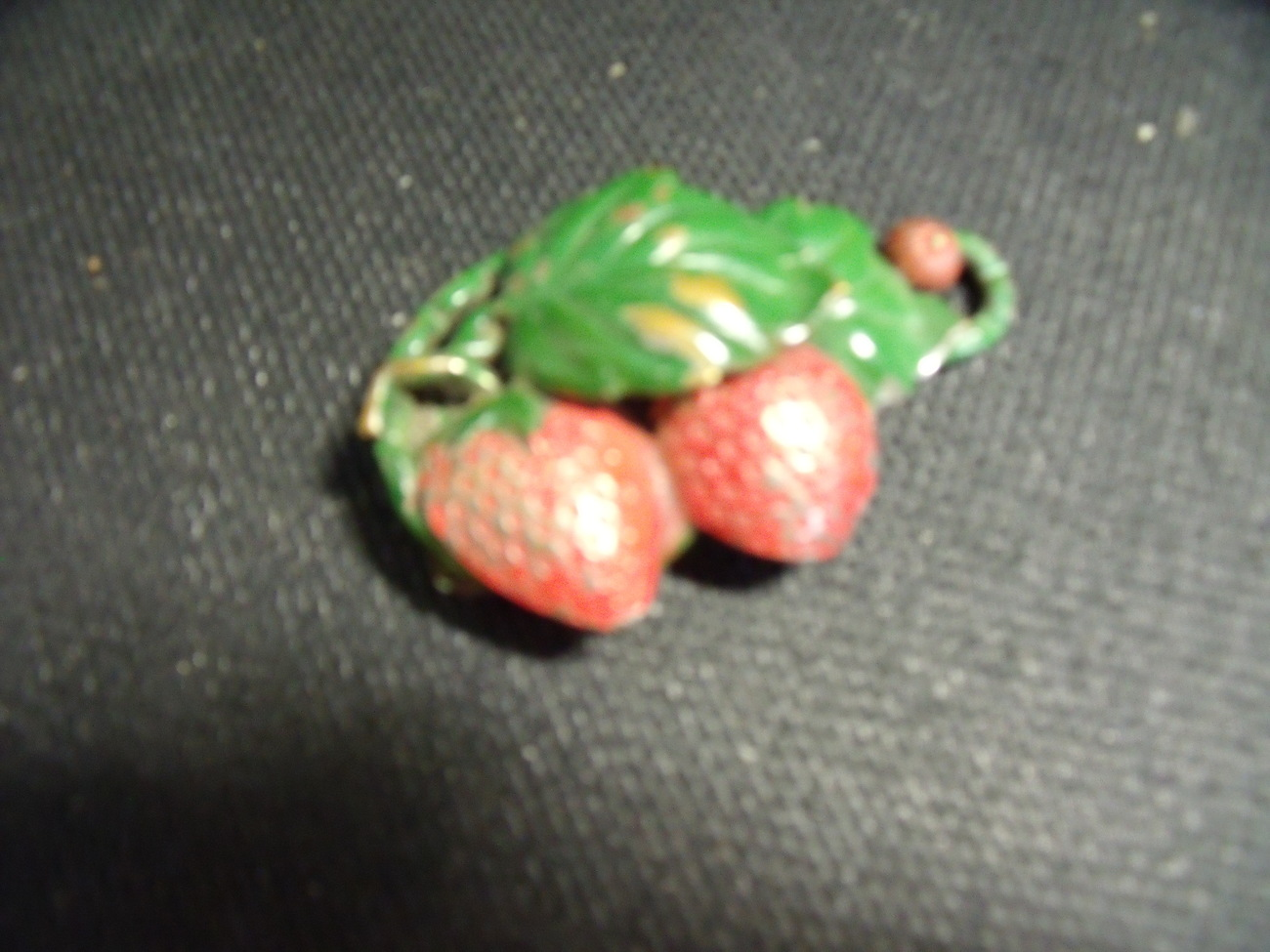 Vintage Strawberry Patch Metal Fur or Sweater Clip