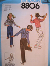 Vintage Sewing Pattern 70s Unused Child 7 and 8 Pants Shirt  - $8.95