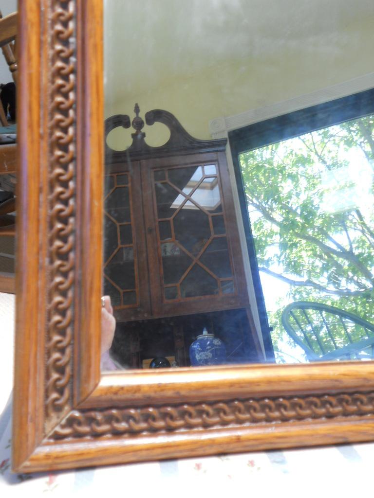 Mirror Vintage Oak for Vanity or Gentleman's Dresser