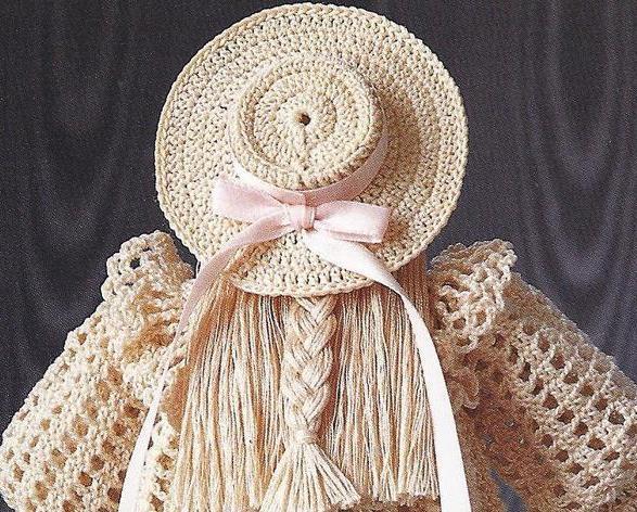 Victorian School Girl Thread Crochet Pattern