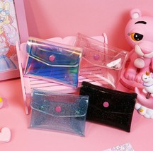 Cute Transparent Coin Purse PVC Jelly Change Wallet Clear Girl Money Car... - $6.99