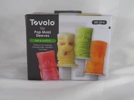 Set of 4 Tovolo Tiki Pop Mold Sleeves - New - $16.14