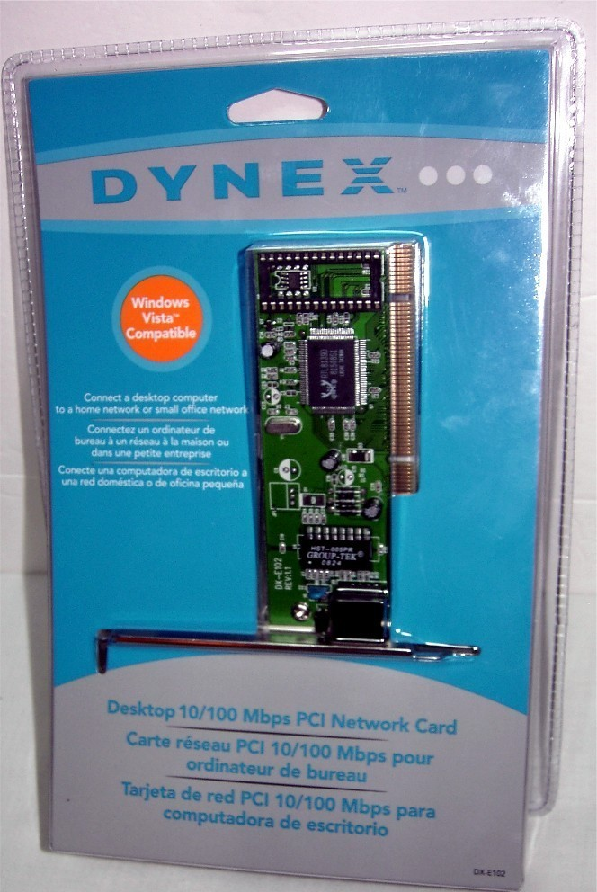 NEW Dynex 10/100 Mbps PCI Network Card