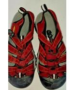 Keen Newport Red Black  Water Sport Sandal Women size 7       /n/ - $29.21